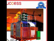 Construction Elevator 2 Cages 50 Meters Hoist