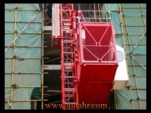 Construction Hoist Double Cage Elevator, Model Sc100/100