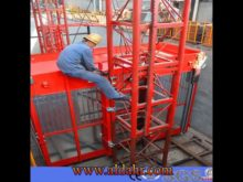 construction hoist safety device