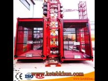 Double Cage Hoist Sc200/200 Construction Elevator Brands For Alibaba