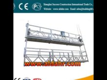 Economic electric suspended hanging scaffold/wire rope suspended platform