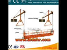 Elevation suspended platforms for construction