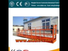 Factory Offer 6m length manual suspended platform by sea