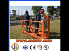 fast delivery Steel Material hoist suspended platform by Air