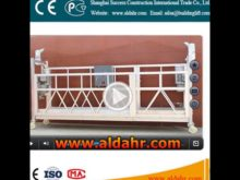 floating scaffold A Alloy Material hoist suspended platform Factory