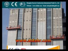 Glass Curtain Wall Installtion Wire Rope Suspended Platform 230V Single phase