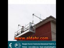 gondola lift high building cleaning equipment suspended platform