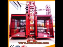 High Quality Sc100 1 Ton Double Cages Construction Mini Hoist Cranes