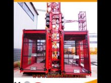 High Quality Sc100 1 Ton Double Cages Hoist For Construction
