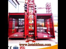High Speed Building Hoist 60 M / Min Reliance on High Rise Building Cranes