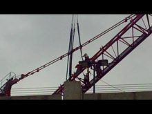 ltm 1300 taking down tower crane 3