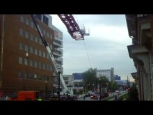 ltm 1300 taking down tower crane 9
