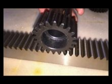 M1 M10 Steel Small Rack And Pinion Gears , Stainlss Steel Gear Racks And Pinion, Gear Racks 1