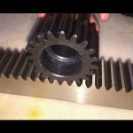 M4 25×25 Cnc Steel Spur Gear Rack