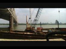 old P&H and Bucyrus Erie cranes timelapse