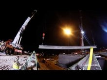 ORBP: I-65N @ 10th st overpass beam install
