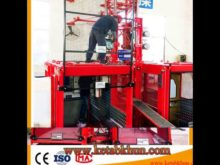Popular Design Sc100 Single Cage Lift For Construction Materials