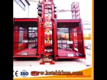 Sc100 1t Small Construction Lift Pulley Passenger Elevator Single Cage Hoist