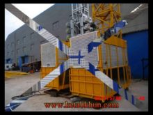 Sc100 Double Cages Construction Hoist ,Construction Mini Hoist Cranes