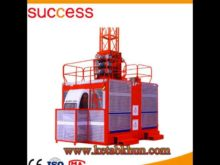 Sc200/200 3*2*11kw Double Cage Construction Elevator