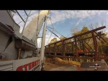 Steretts Liebherr Ltm1500 & Ltm1300 setting bridge sections