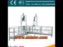 suspended platform hoist/rope suspended platform/swing stage CE proved