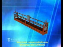 Suspended Platform Installation Video,cradle, gondola, swing stage