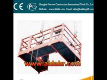 suspended working platform hk