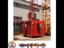 Twin Cage Construction Hoist with Invertor