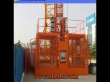 Two Cabin Energy Saving Material&Passenger Building Hoist Construction Elevator