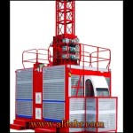 Variable Frequency Middle Speed CE & GOST Approved Construction Elevator with Large Cage