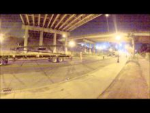 walking a Walsh link belt 248 under a highway timelapse