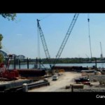 Walsh Manitowoc 4100 ringer unloading caissons