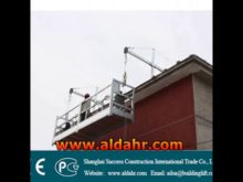 window cleaning gondola CE proved/rope suspended platform