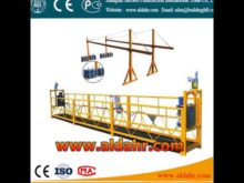 wire rope guide suspended platform