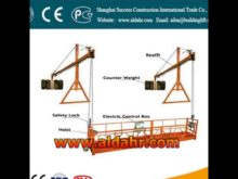 work platform lift CE proved/rope suspended platform