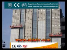 ZLP500 Steel Suspended Working Platform/galvanized steel wire rope suspended platform