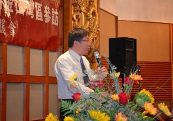 Ko Wen-je at dinner speech (Photo by Gina Mao)