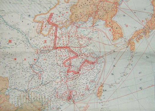 Map of Japanese Empire in WWII, of which Taiwan is a fragment (from Taipics)