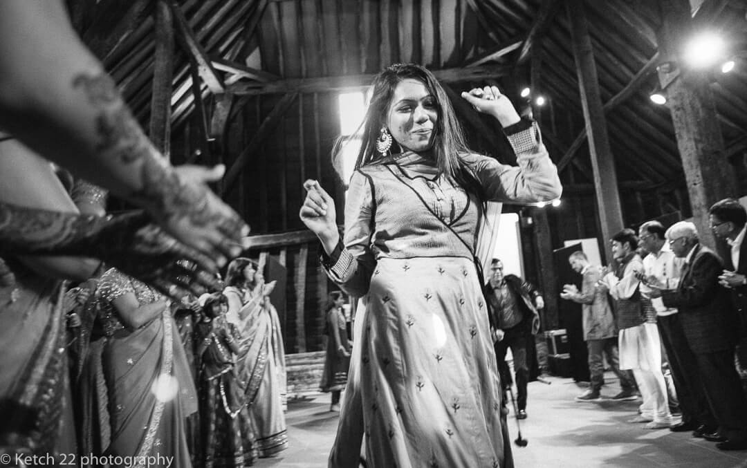 wedding guest dancing at Hindu wedding night
