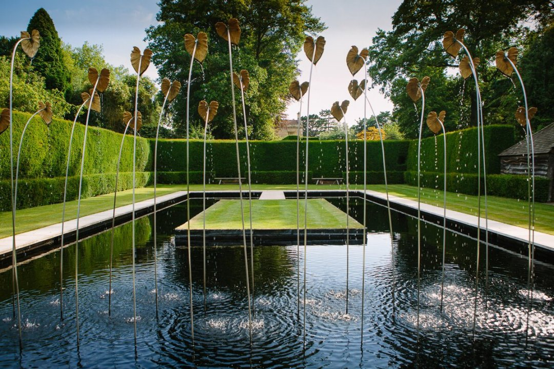 View of gardens/ Wedding at Kiftsgate Court Gardens