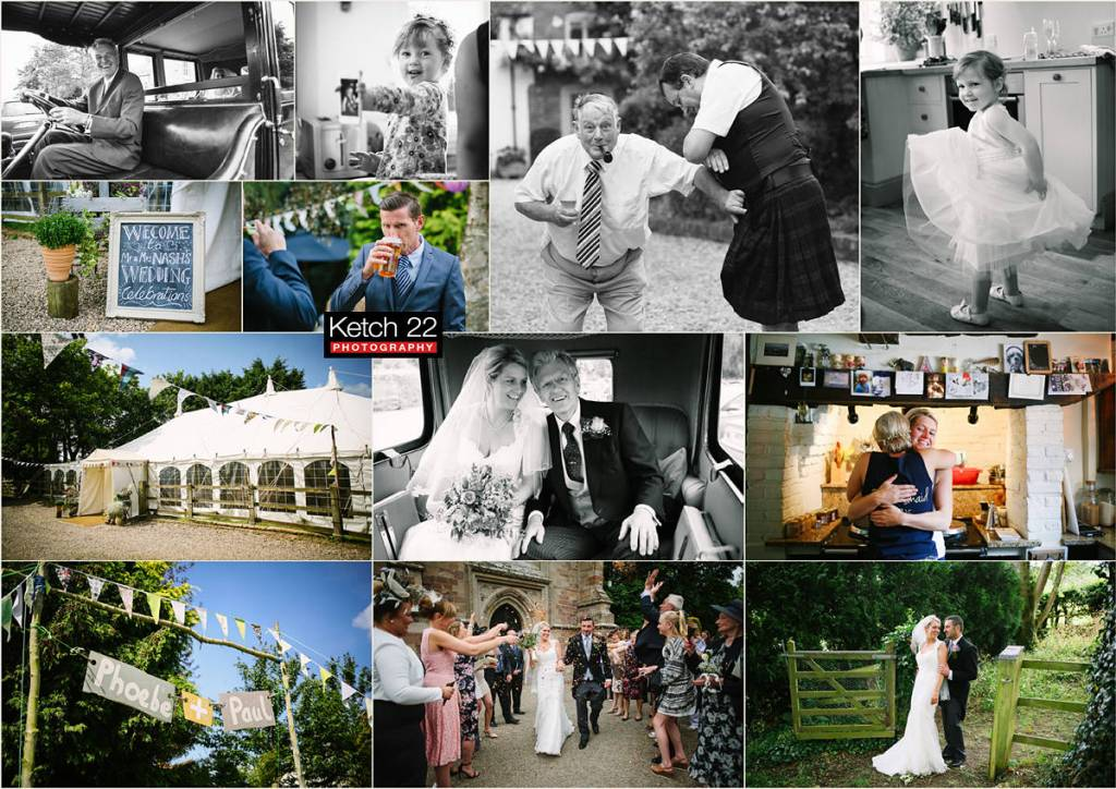 Documentary wedding photography Worcestershire with bride and groom