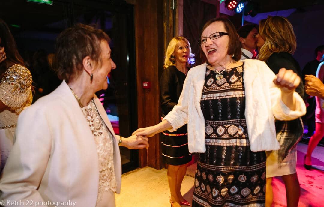 Ladies dancing at wedding reception