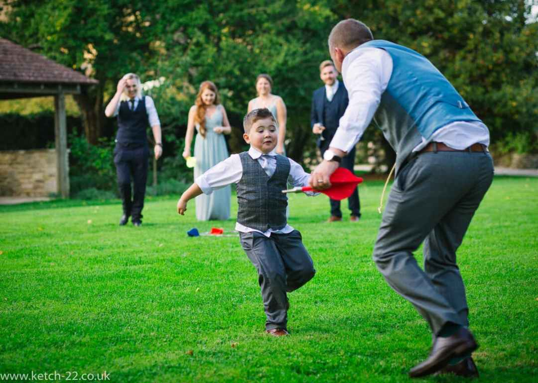 Garden games at weddings at The Great Tythe Barn