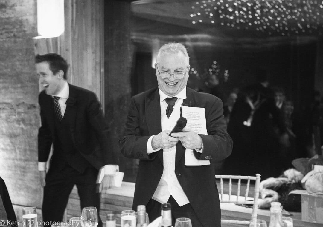 Father of the bride making wedding speech
