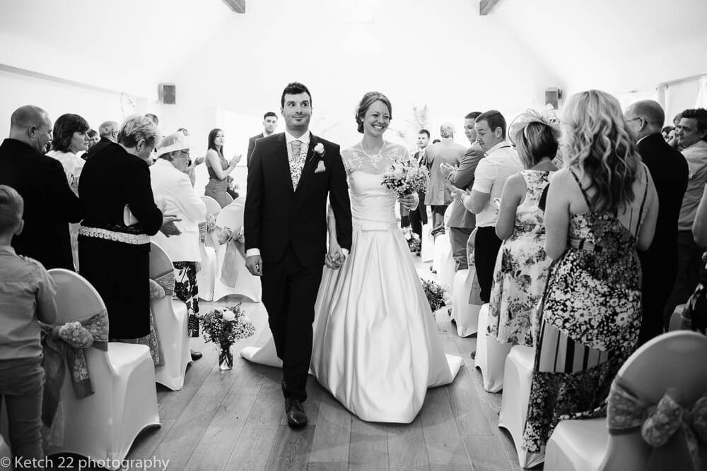 Wedding Ceremony at The Barn at Berkeley Gloucestershire