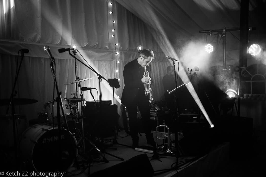 Wedding musician performing on stage in Oxfordshire