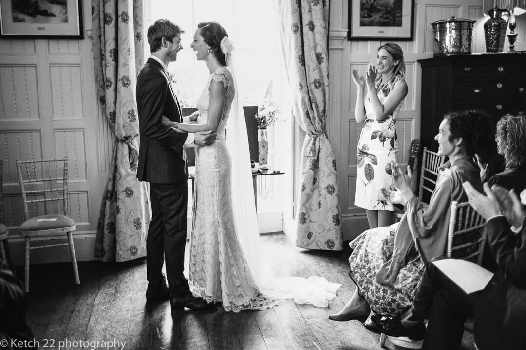 Bride and groom at ceremony for wedding photography and photo tours in Spain blog