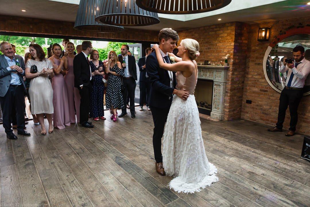 First dance at Cheltenham wedding