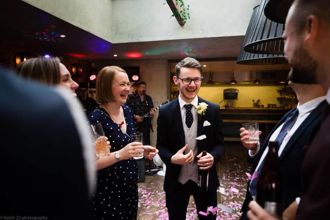Best man at Cheltenham wedding reception